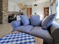 obývací kout apartmán č. 2 - k pronajmutí Milhostov u Mariánských Lázní