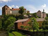 Pohled na hradní areál - pronájem apartmánu Bečov nad Teplou