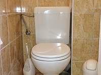 WC - chata k pronájmu Hracholusky